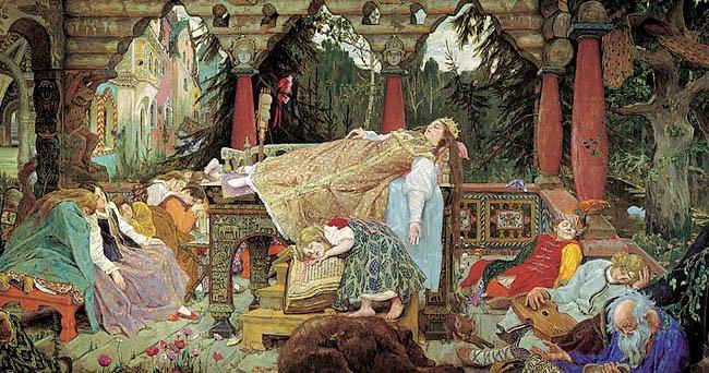 Víktor Vasnetsov (1848-1926)La princesa durmiente (Спящая царевна,6 1900-1926)
