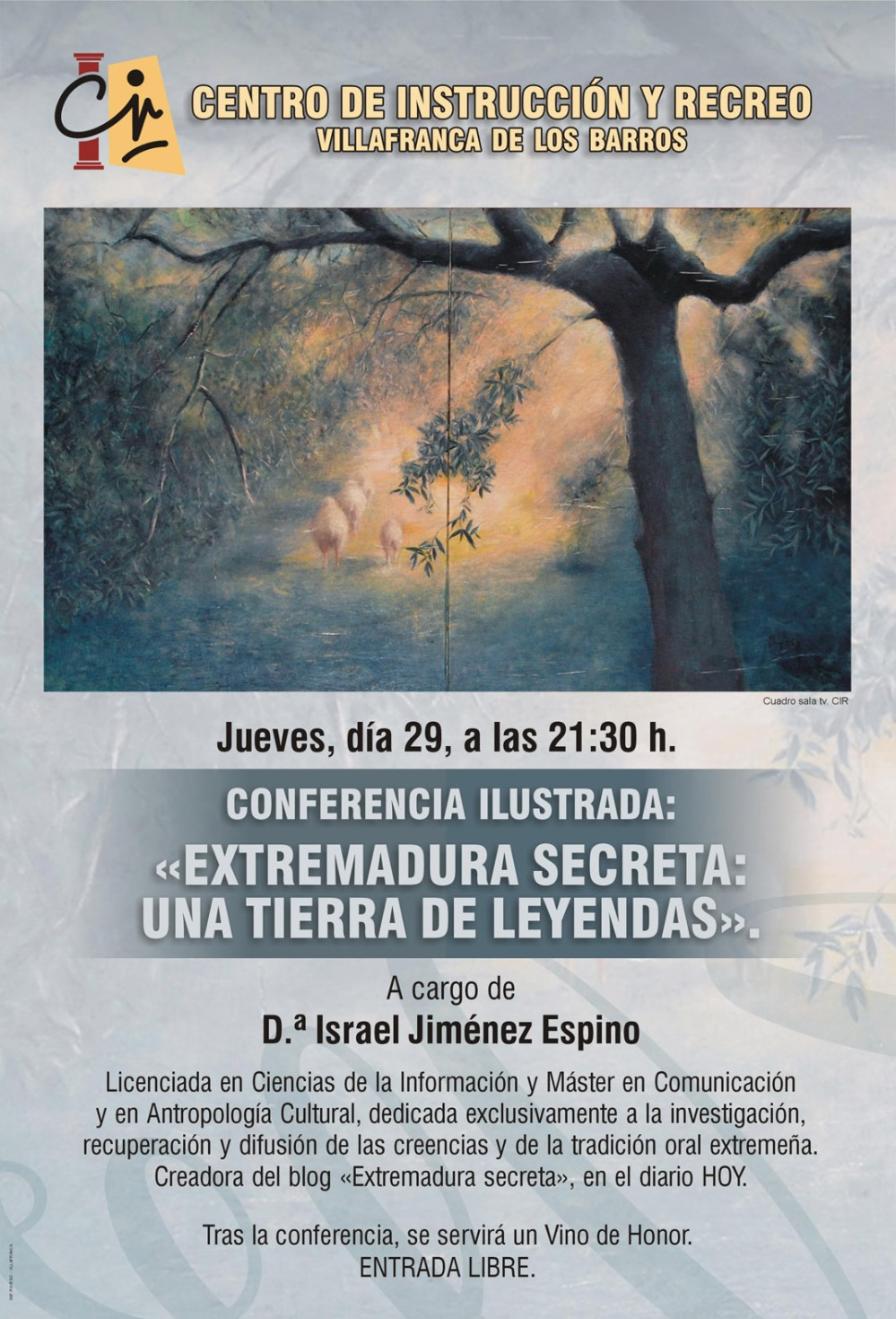 CARTEL CONFERENCIA EXTREMADURA SECRETA